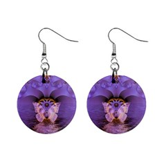 Artsy Purple Awareness Butterfly Mini Button Earrings