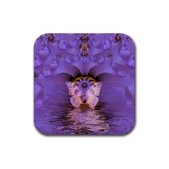 Artsy Purple Awareness Butterfly Drink Coaster (square)