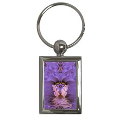 Artsy Purple Awareness Butterfly Key Chain (Rectangle)