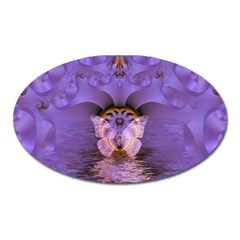 Artsy Purple Awareness Butterfly Magnet (Oval)