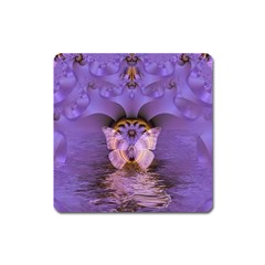 Artsy Purple Awareness Butterfly Magnet (square)