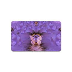 Artsy Purple Awareness Butterfly Magnet (Name Card)
