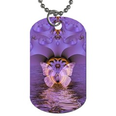 Artsy Purple Awareness Butterfly Dog Tag (one Sided)