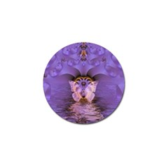 Artsy Purple Awareness Butterfly Golf Ball Marker 4 Pack