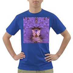 Artsy Purple Awareness Butterfly Men s T-shirt (Colored)