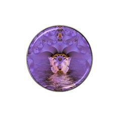 Artsy Purple Awareness Butterfly Golf Ball Marker (for Hat Clip)