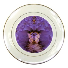 Artsy Purple Awareness Butterfly Porcelain Display Plate