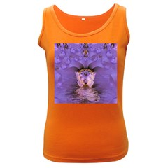 Artsy Purple Awareness Butterfly Women s Tank Top (dark Colored)