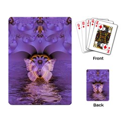 Artsy Purple Awareness Butterfly Playing Cards Single Design