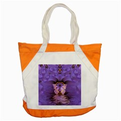 Artsy Purple Awareness Butterfly Accent Tote Bag