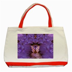 Artsy Purple Awareness Butterfly Classic Tote Bag (red)