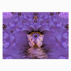 Artsy Purple Awareness Butterfly Glasses Cloth (Large, Two Sided)