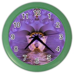Artsy Purple Awareness Butterfly Wall Clock (Color)