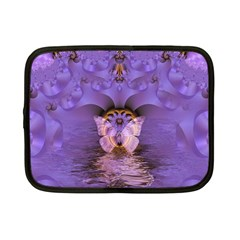 Artsy Purple Awareness Butterfly Netbook Sleeve (small)