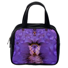 Artsy Purple Awareness Butterfly Classic Handbag (one Side)