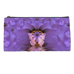 Artsy Purple Awareness Butterfly Pencil Case