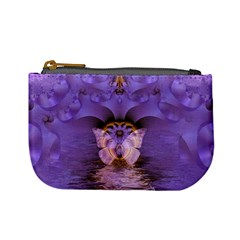 Artsy Purple Awareness Butterfly Coin Change Purse