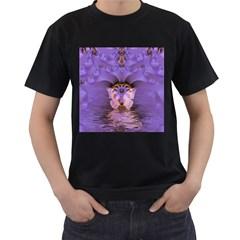 Artsy Purple Awareness Butterfly Men s T Shirt (black)