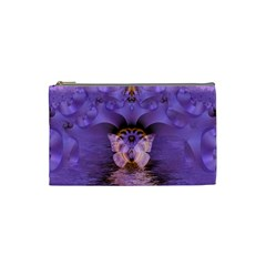 Artsy Purple Awareness Butterfly Cosmetic Bag (Small)