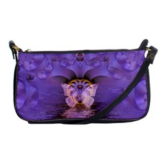 Artsy Purple Awareness Butterfly Evening Bag