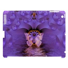 Artsy Purple Awareness Butterfly Apple Ipad 3/4 Hardshell Case (compatible With Smart Cover)
