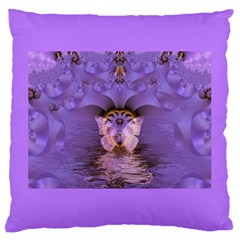 Artsy Purple Awareness Butterfly Large Cushion Case (Single Sided)