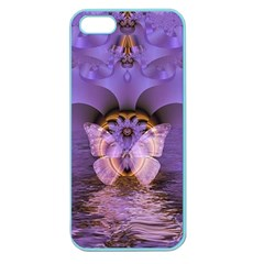 Artsy Purple Awareness Butterfly Apple Seamless Iphone 5 Case (color)