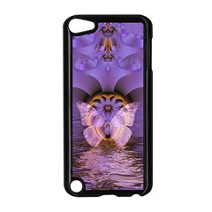 Artsy Purple Awareness Butterfly Apple Ipod Touch 5 Case (black)
