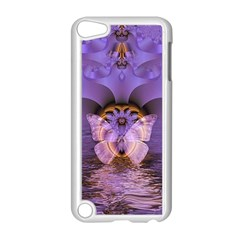 Artsy Purple Awareness Butterfly Apple iPod Touch 5 Case (White)