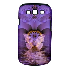 Artsy Purple Awareness Butterfly Samsung Galaxy S III Classic Hardshell Case (PC+Silicone)
