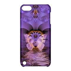 Artsy Purple Awareness Butterfly Apple Ipod Touch 5 Hardshell Case With Stand
