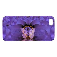Artsy Purple Awareness Butterfly Apple iPhone 5 Premium Hardshell Case