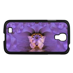 Artsy Purple Awareness Butterfly Samsung Galaxy S4 I9500/ I9505 Case (black)