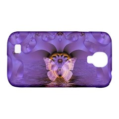 Artsy Purple Awareness Butterfly Samsung Galaxy S4 Classic Hardshell Case (PC+Silicone)