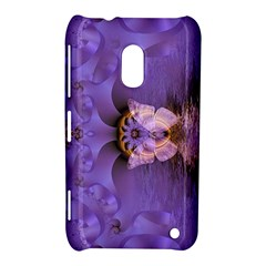 Artsy Purple Awareness Butterfly Nokia Lumia 620 Hardshell Case