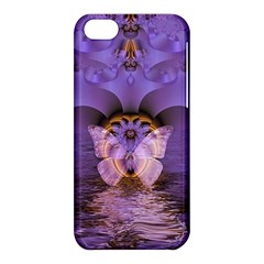 Artsy Purple Awareness Butterfly Apple Iphone 5c Hardshell Case