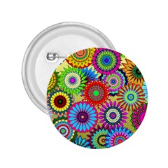 Psychedelic Flowers 2.25  Button