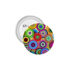 Psychedelic Flowers 1.75  Button
