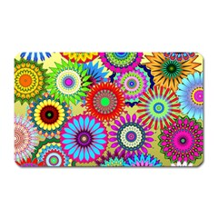 Psychedelic Flowers Magnet (Rectangular)
