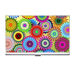 Psychedelic Flowers Business Card Holder