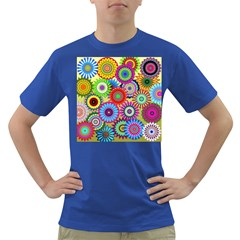 Psychedelic Flowers Men s T-shirt (Colored)
