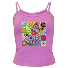 Psychedelic Flowers Spaghetti Top (Colored)