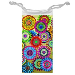 Psychedelic Flowers Jewelry Bag