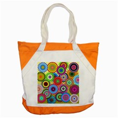 Psychedelic Flowers Accent Tote Bag