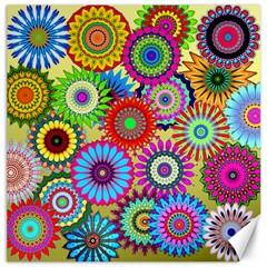 Psychedelic Flowers Canvas 12  X 12  (unframed)