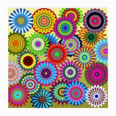Psychedelic Flowers Glasses Cloth (medium, Two Sided)