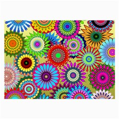 Psychedelic Flowers Glasses Cloth (Large, Two Sided)
