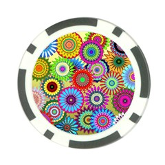 Psychedelic Flowers Poker Chip
