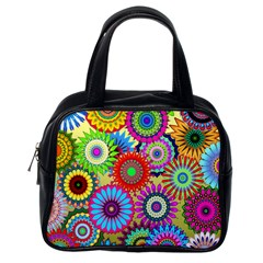 Psychedelic Flowers Classic Handbag (One Side)