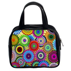 Psychedelic Flowers Classic Handbag (Two Sides)
